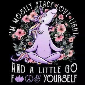 Unicorn t-shirts black pink gypsy glam doll flower